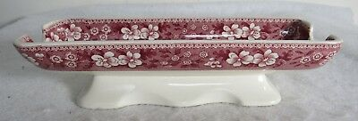 Pink Spode Tower Corn On The Cob Holder Hard To Find
