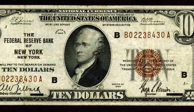 New York - $10 1929  ** National Currency ** MORE CURRENCY FOR SALE **