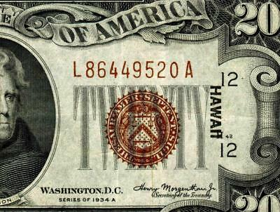 $20 1934A (( HAWAII ))  Federal Reserve Note  ** MORE CURRENCY FOR SALE **