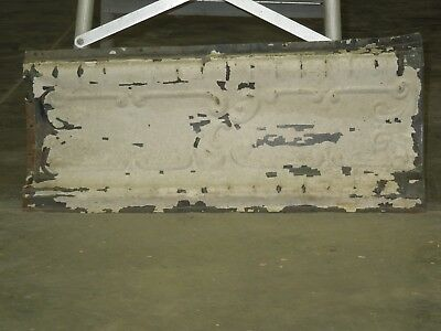 "Old Antique ( Metal )  tin ceiling tile / tiles 24"" x 9""  cornice"