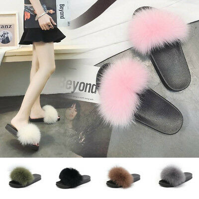 ab4468a46d725 Slippers Women Home Fluffy Comfort With Feathers Flats Ladies Indoor Floor  Shoes