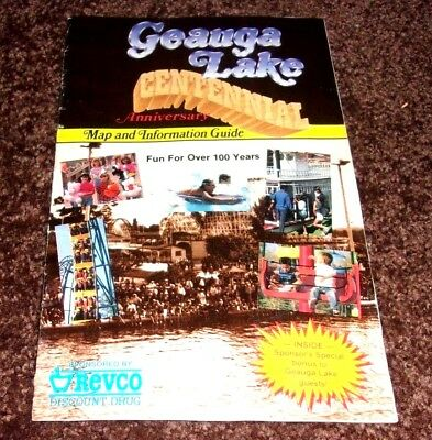 Geauga Lake,centennial Guide,map,informational Guide,big Dipper,wolf Bobs,ohio