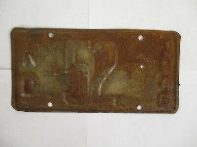 1946  North Dakota TWO DIGIT   License Plate Tag  #52
