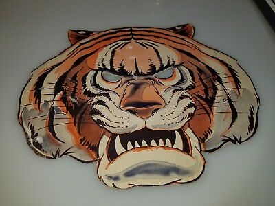 "VINTAGE 1950s 60s CARDBOARD HORROR MONSTER SCARY TIGER MASK 8"" X 10"" CLEAN RARE!"