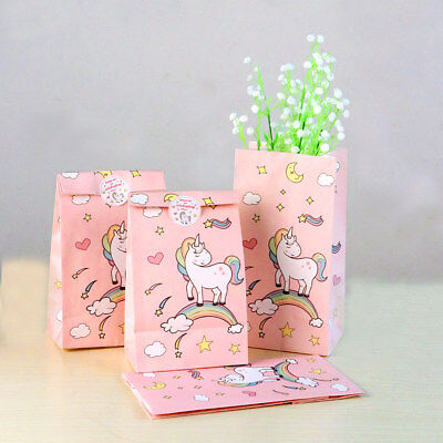 120×Unicorn Party Supply Paper Loot Lolly Treat Bags Birthday Favor Candy Box