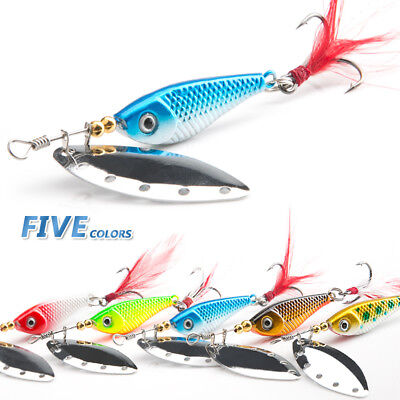 16g Spinner Spoon Metal Bait Fishing Lure Sequins Crankbait Baits Bass Trout