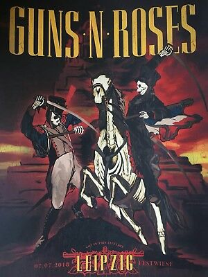 Guns N Roses Lithograph Poster Leipzig 2018 Not in this lifetime tour  103/150