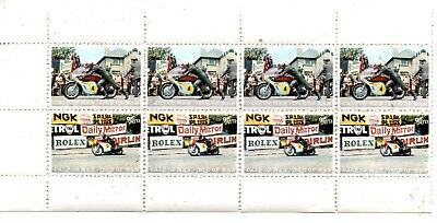 A STRIP OF 8 STAMPS FROM THE ISLE OF MAN,CALF OF MAN 1970s.