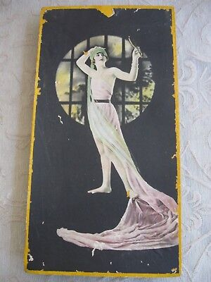 large vintage 1920s art deco Cardboard CHOCOLATE BOX  Drapped woman USA
