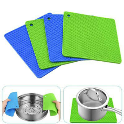 New Pot Holders Set of 4PCS Silicone Trivets Multi-Purpose Hot Pads