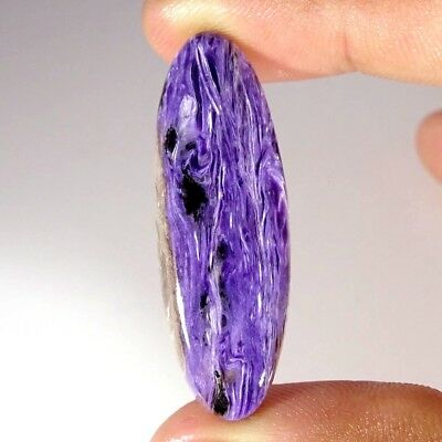 31.50Cts 100% Natural Blue Purple Charoite Oval Cabochon Russian loose Gemstone