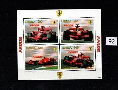 ++ Liberia - Mnh - Sports Cars - Ferrari