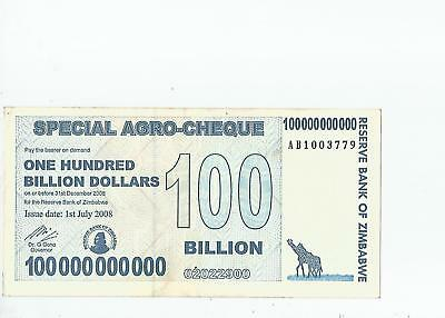 Zimbabwe  100  Billion  Dollars  2008