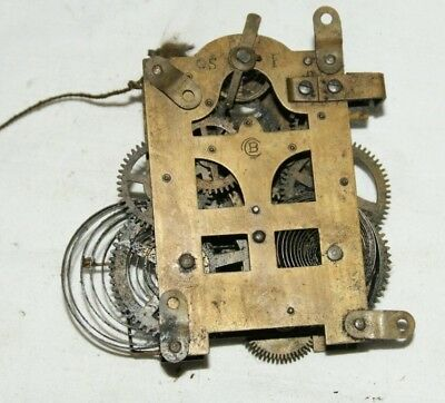 Antique  BADISCHE UHRENFABRIK Clock Movement, Spares/Repair