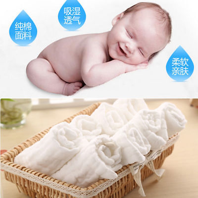 Children Baby Newborn Soft Washcloth Bath Towel Bathing Feeding Wipe Cloth Kids