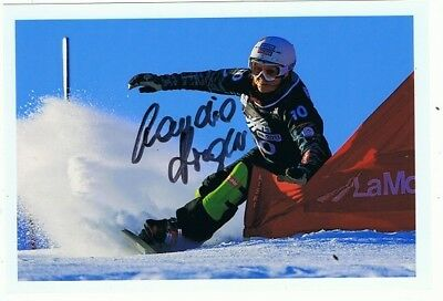 Claudia Riegler (Snowboard, Weltmeisterion 2015), sign. Foto