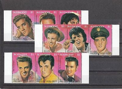 ST VINCENT - SG1902-1910 MNH 1992 15th DEATH ANNIV ELVIS PRESLEY