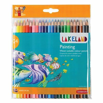 24 Painting Water Soluble Colour Pencils by Lakeland