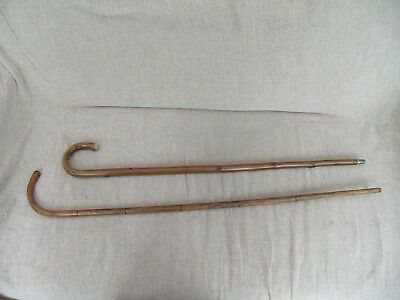 Pair Of Vintage Wooden Walking Sticks Canes Great For Props Display Etc.