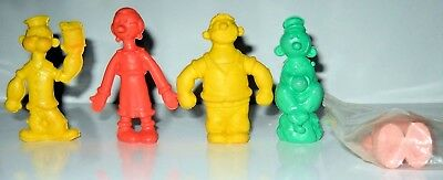 5 Vintage 1980 Popeye, Olive Oil, Sweet Pea, Brutus, Wimpy Rubber Erasers