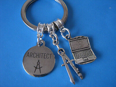 Architect Keyring Gift for an Architect Keychain Graduation Gift