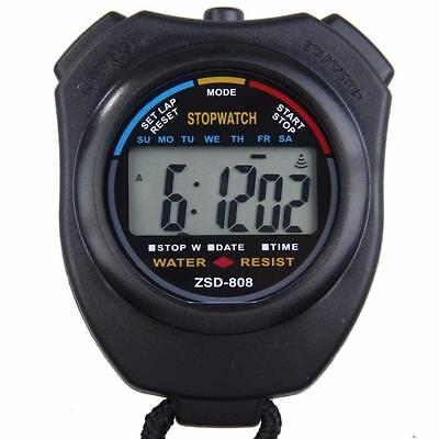 Digital Professional Handheld LCD Chronograph Sports Stopwatch Stop Watch UK