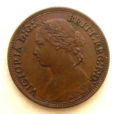 Great Britain Uk Coins, Farthing 1878, Victoria