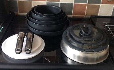 """Tefal """"Ingenio"""" 14  Piece Non Stick Induction Friendly Cookware Set inc.Strainer"""