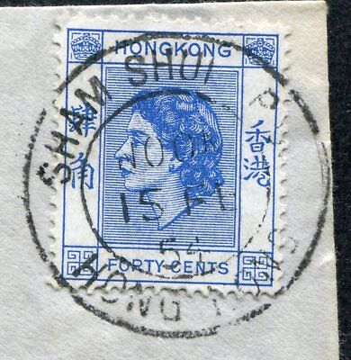 1954 Hong Kong 40c  Stamp on Cover with Sham Shui Po   CDS Pmk