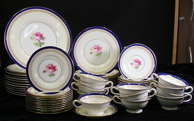 Minton Portland Rose Pattern S225 China Service For 12 Plates Saucers Cups