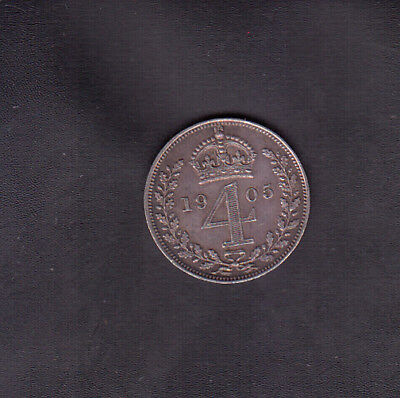 1905 Great Britain Silver 4 Pence