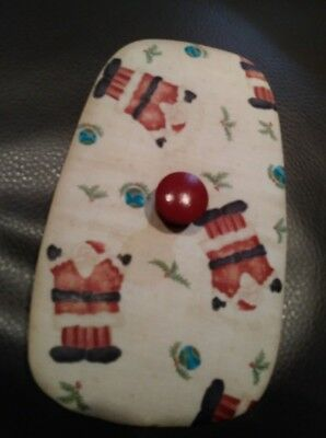 Longaberger Dash Away Sleigh Homestead fabric lid, MINT FREE SHIPPING!