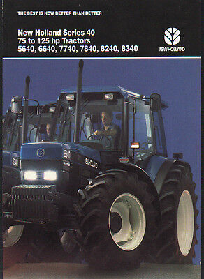 "New Holland ""Series 40"", 75 to 125hp, Tractor Brochure Leaflet"