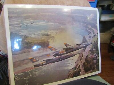 Late 1950's US Navy Blue Angels Grumman F-11/F-1 Tigers over Niagara Falls print