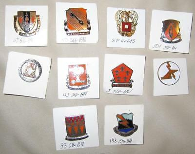 Lot of 10 US Army Distinctive Insignia DI/DUI/Crest--Signal Corps (Lot B)