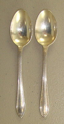 Matched Pair of Antique English Sterling Silver Demitasse Spoons 21.1 Grams