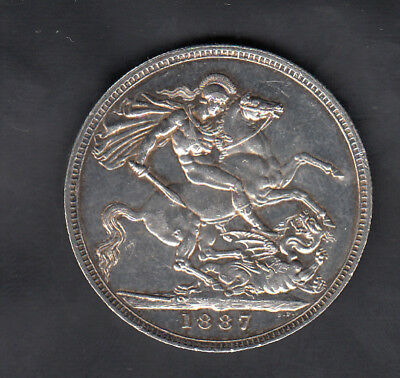 1887 Great Britain Silver Crown