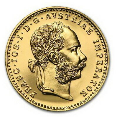 1915 Austria Gold 1 Ducat Brilliant Uncirculated Prooflike Coin ~ Free Shipping