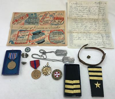 Estate LOT of U.S. Military Collectables - Documents, Medals & More