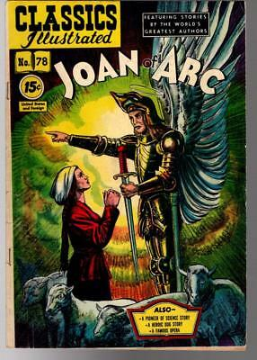 Classics Illustrated #78 JOAN OF ARC Line Drawing Cover