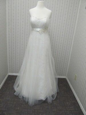 SALE NWT BEAUTIFUL Ivory tulle sequin & beads Wedding gown by EDEN BRIDALS sz 6