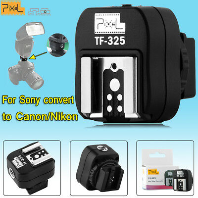Pixel TF-325 Hotshoe Adapter PC Sync Socket for Sony Converter to Canon Nikon
