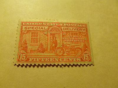 -+++++United States Scott E16, the 15¢ Orange  Motorcycle  Special Delivery MINT