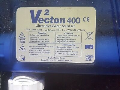 Aquarium 25Watt UV Sterilizer Filter Tropical Marine Vecton 400