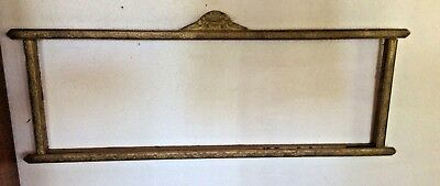 Arts and Crafts Picture Frame Mission Art Deco ornate carved gold antique