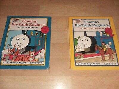 Two 3 in 1 Thomas the tank engine books by Christopher awdry