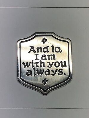 """RETIRED James Avery Sterling Silver """"I Am Always With You"""" Piece"""