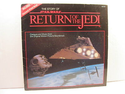 Star Wars Story Of Rotj 1983 Lp Vinyl Record With Souvenir Photo Book