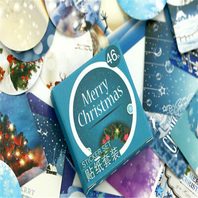 Christmas Mini Paper Sticker Decoration Diary Album Scrapbooking Label Decor Z