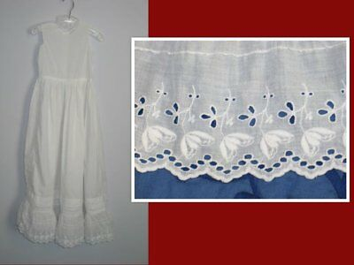 Antique Baby~Infant-Under Skirt Dress~Gown-Christening Baptismal Gown-Embroidery